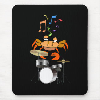 Crab Dreams of Playing The Drums in Rock Band Mouse Pad