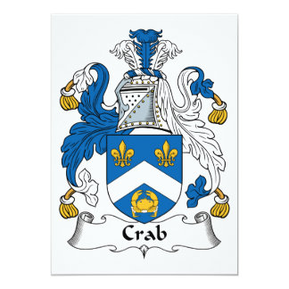 Crab Family Crest Card