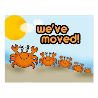 Crab Family New Address Postcard