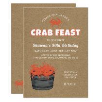 Crab Feast Birthday Party Invitation