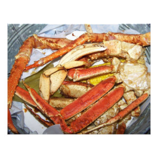 Crab Feast in a Pail Scrapbooking Paper Letterhead Template