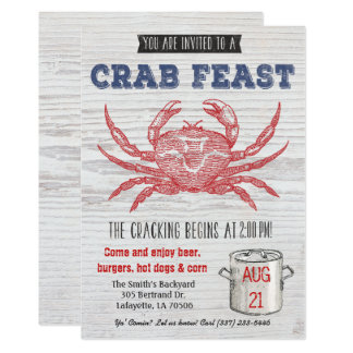 Crab Feast Invitation