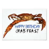 Crab Feast Invitation