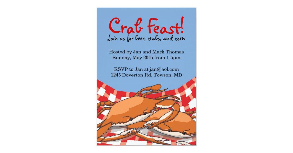 Crab Feast Invitations Zazzle Com