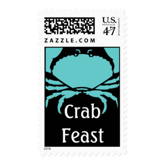 Crab Feast Postage STAMPS Mail Invites Blue crabs