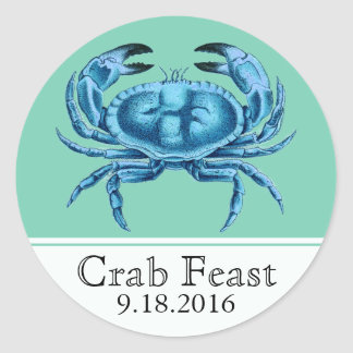 Crab Feast Seafood Event Classic Round Sticker