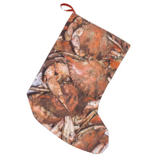 Crab Feast Small Christmas Stocking