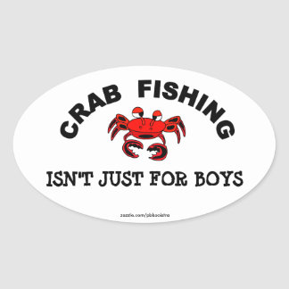 Crab Fishing Isn't Just For Boys Sticker