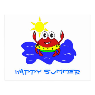 crab happy summer Postcard