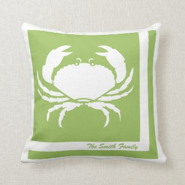 Beach Themed Crab Image Personalized American MoJo Pillow