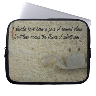 Crab in Sand at Beach Computer Sleeve