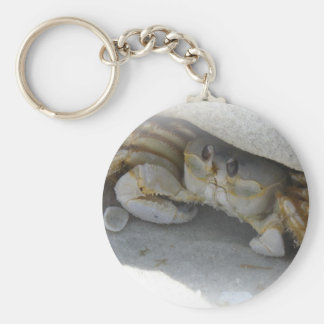 Crab in the sand keychain