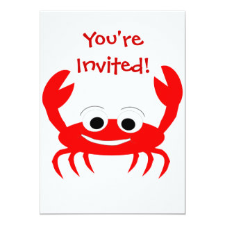 Crab Invitation For Any Occasion