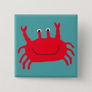 Crab Island Pinback Button
