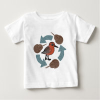 Crab-Knot Cycle Baby Fine Jersey T-Shirt