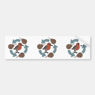 Crab-Knot Cycle Bumper Stickers