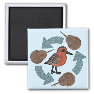 Crab-Knot Cycle 2 Inch Square Magnet