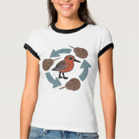 Crab-Knot Cycle Ladies Ringer T-Shirt