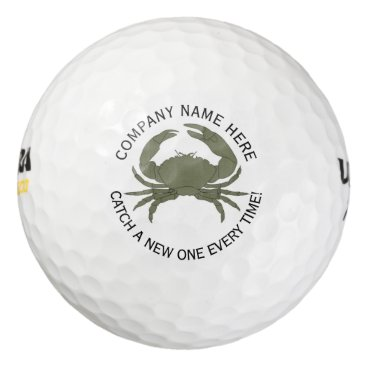 Professional Business Crab Logo Design • Custom Golf Balls