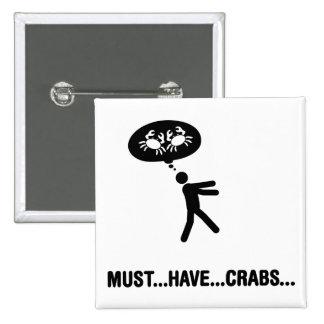 Crab Lover Pins