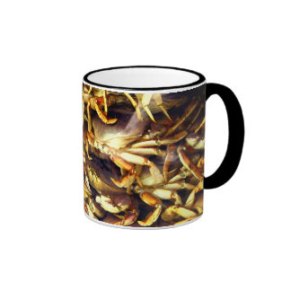 Crab Lover_ Ringer Coffee Mug