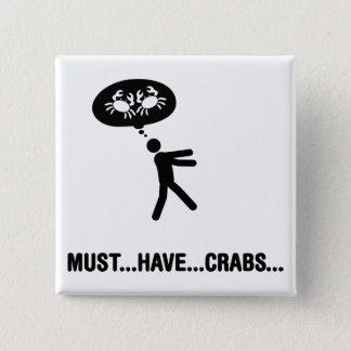 Crab Lover Pinback Button