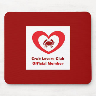 Crab Lovers Club Official Member Mouse Pad