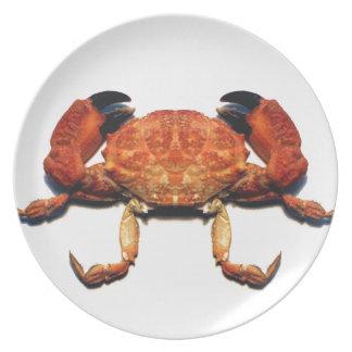 Crab Melamine Plate