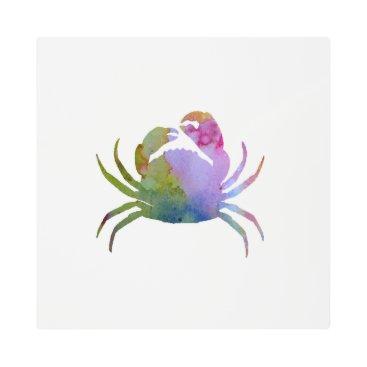 Beach Themed Crab Metal Photo Print