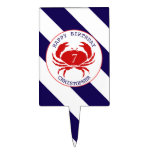Crab Nautical Birthday Party Cake Topper
