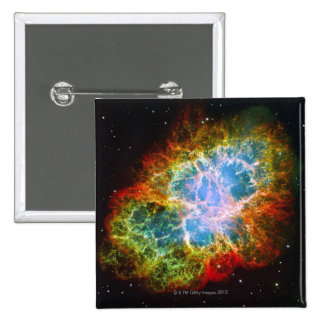 Crab Nebula 2 Inch Square Button
