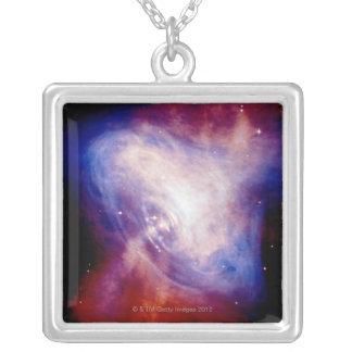 Crab Nebula 3 Square Pendant Necklace