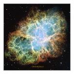 Crab Nebula 5.25x5.25 Square Paper Invitation Card