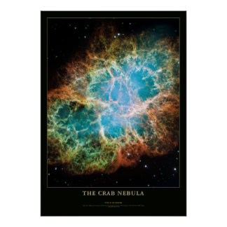 Crab Nebula Astronomy and Science Poster
