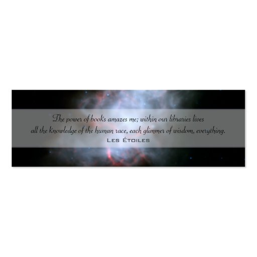 Crab Nebula Double-Sided Mini Business Cards (Pack Of 20)
