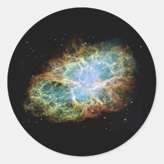 Crab Nebula Classic Round Sticker