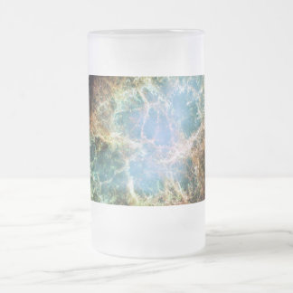 Crab Nebula Frosted Glass Beer Mug