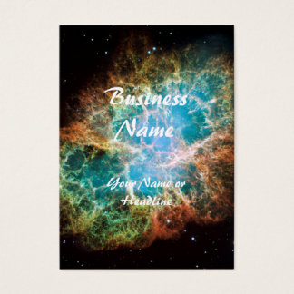 Crab Nebula – Hubble Telescope Business Card