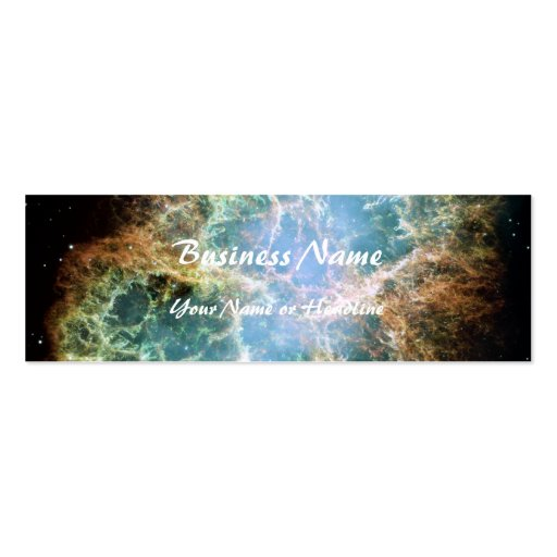 Crab Nebula – Hubble Telescope Double-Sided Mini Business Cards (Pack Of 20)