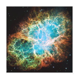 Crab Nebula – Hubble Telescope Gallery Wrapped Canvas