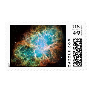 Crab Nebula – Hubble Telescope Postage Stamps
