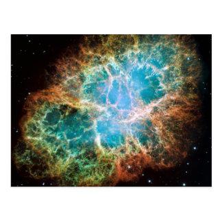 Crab Nebula – Hubble Telescope Postcard