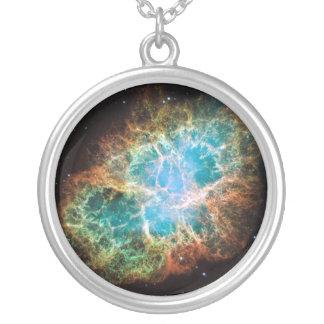 Crab Nebula – Hubble Telescope Round Pendant Necklace