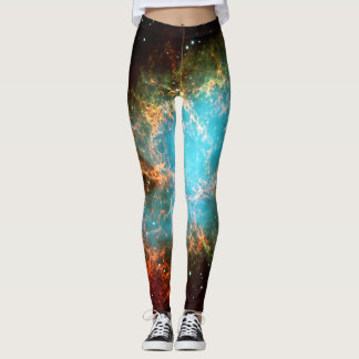 Crab Nebula in Taurus outer space exercise Leggings