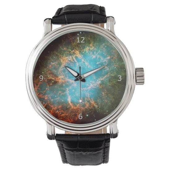 Crab Nebula in Taurus - outer space picture Wrist Watch