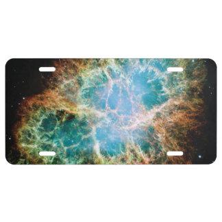 Crab Nebula License Plate