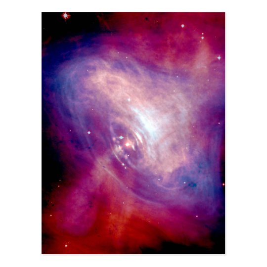 Crab Nebula NASA Space Postcard