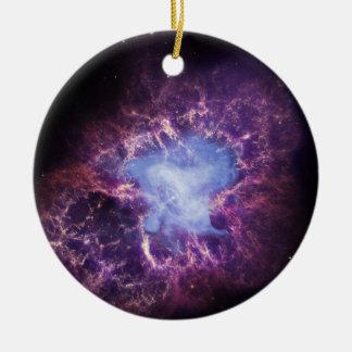 Crab Nebula NGC 1952 Ceramic Ornament