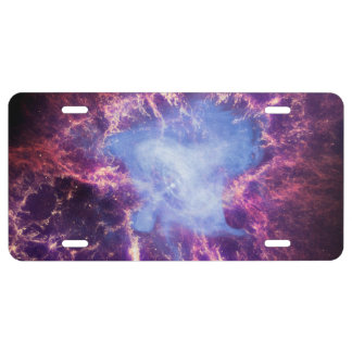 Crab Nebula NGC 1952 License Plate
