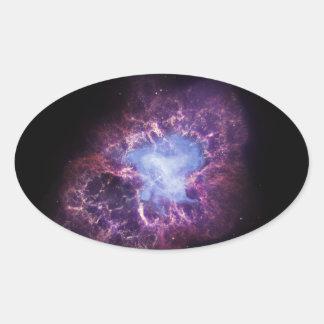 Crab Nebula NGC 1952 Oval Sticker